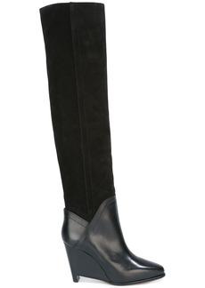 Maison Margiela wedge knee high boots - Black