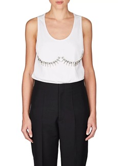 Maison Margiela Women's Embellished Rib-Knit Cotton Tank