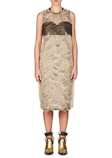 Maison Margiela Women's Layered Reverse-Brocade Sheath Dress