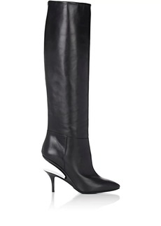 Maison Margiela Women's Suspended-Heel Leather Knee Boots