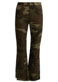 Maison Martin Margiela MM6 Maison Margiela Camouflage-print flared cropped cotton trousers