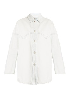 Maison Martin Margiela MM6 by Maison Margiela Oversized distressed denim shirt