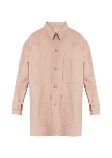 Maison Martin Margiela MM6 by Maison Margiela Point-collar patch-pocket denim coat
