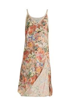 MM6 Maison Margiela Asymmetric floral-print cotton slip dress