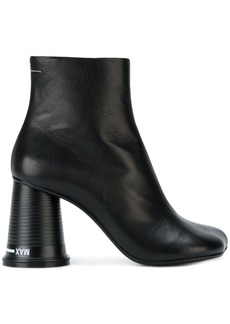 Mm6 Maison Margiela boots with cup shaped heel - Black