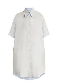 MM6 Maison Margiela Detachable-collar coated-cotton shirtdress