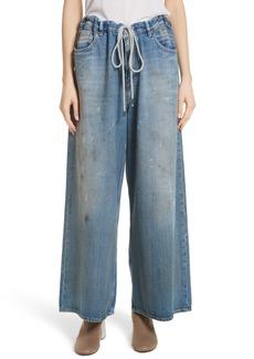 MM6 Maison Margiela Drawstring Wide Leg Jeans (Indigo Stone)
