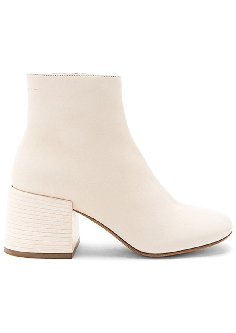 19e6ab1dfeca Maison Margiela MM6 Maison Margiela Flare Heel Ankle Boots in Cream ...