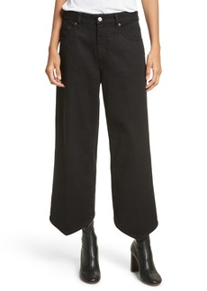 MM6 Maison Margiela Just Wash Point Hem Wide Leg Jeans