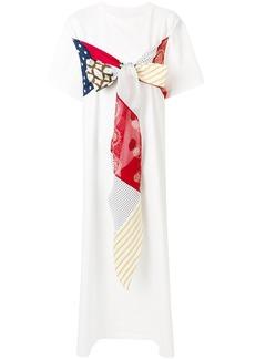 Mm6 Maison Margiela patchwork shift dress - White