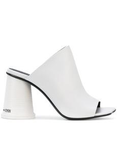 Mm6 Maison Margiela plastic cup heel mules - White