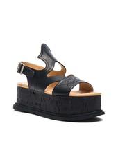 MM6 Maison Margiela Platform Leather Sandals