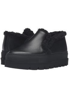 MM6 Maison Margiela Platform Shearling Trim Sneaker