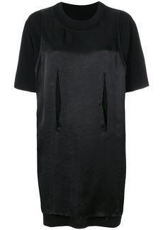 Mm6 Maison Margiela satin T-shirt dress - Black