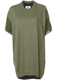 Mm6 Maison Margiela short-sleeve sweater dress - Green