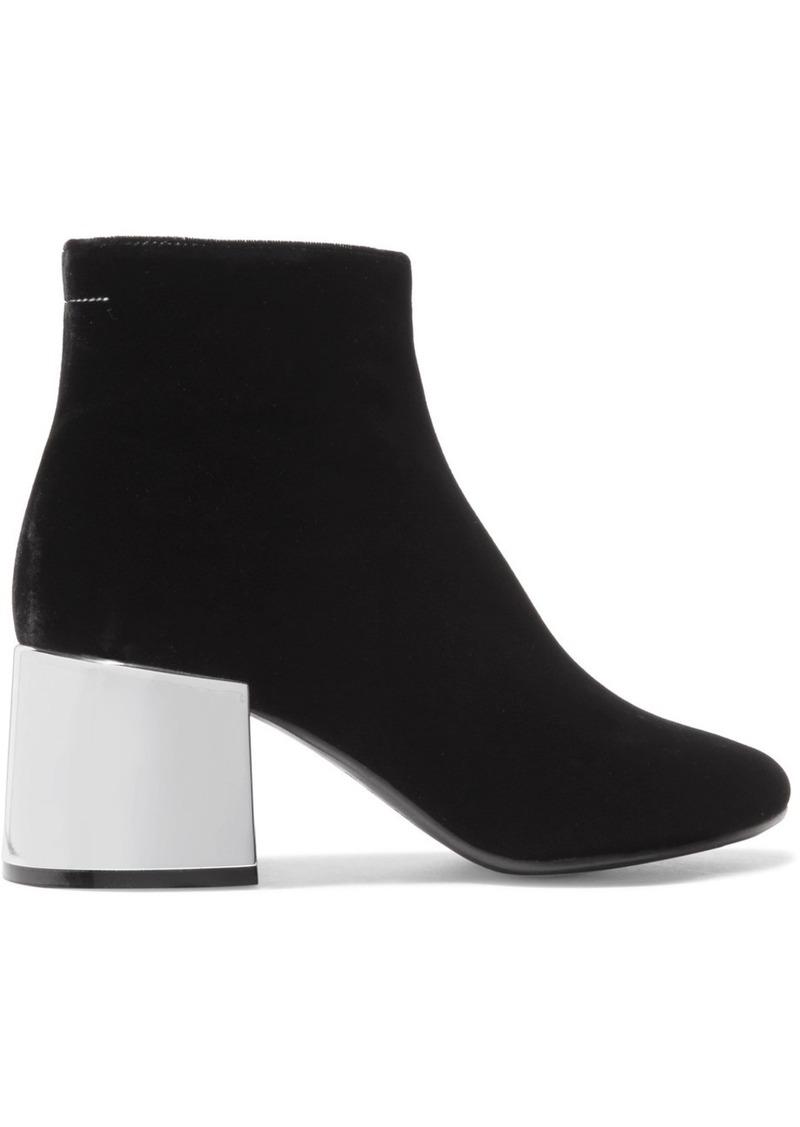 595942c552e Maison Margiela MM6 Maison Margiela Velvet ankle boots