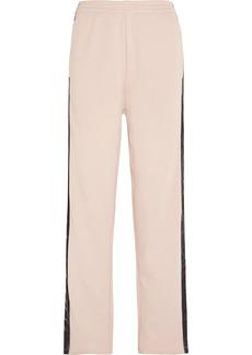 Maison Martin Margiela MM6 Maison Margiela Velvet-trimmed cotton-jersey track pants