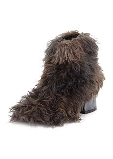MM6 Maison Martin Margiela Faux-Fur Block-Heel Ankle Bootie