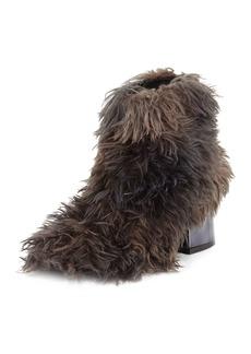 Maison Margiela Faux-Fur Block-Heel Ankle Bootie