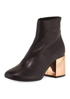 MM6 Maison Martin Margiela Leather Chunky-Heel Ankle Boot