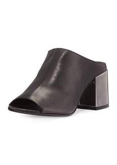 MM6 Maison Martin Margiela Leather Metal-Heel Mule