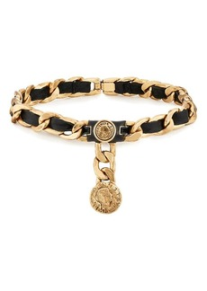 Maison Mayle Women's Leather On Curb-Chain Choker - Gold