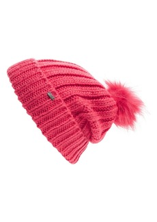 Maison Scotch Faux Fur Pom Beanie