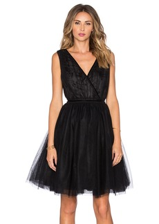 Maison Scotch Tulle Cross Front Mini Dress