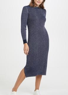 Scotch & Soda/Maison Scotch Metallic Knitted Midi Dress