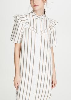 Scotch & Soda/Maison Scotch Metallic Striped Dress