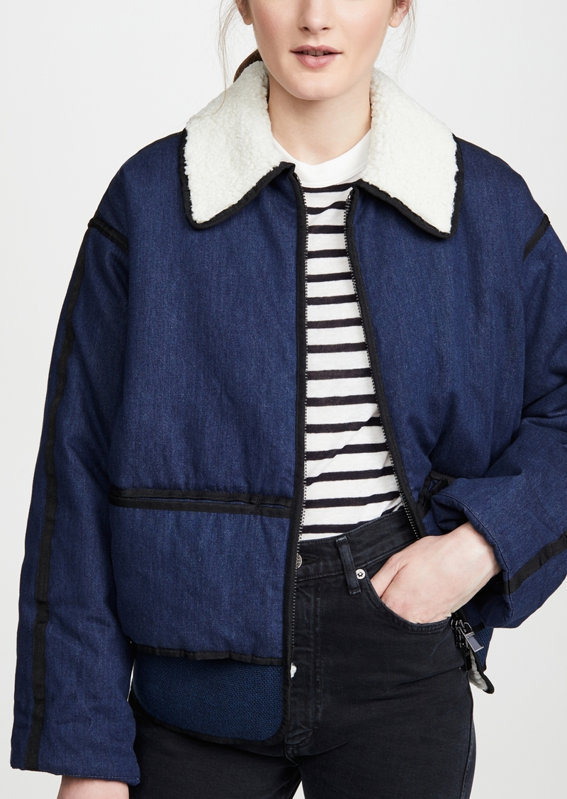 Scotch & Soda/Maison Scotch Padded Denim Bomber Jacket