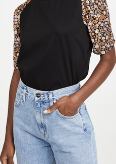Scotch & Soda/Maison Scotch Printed Sleeves Relaxed Tee