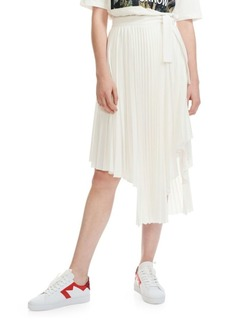 Maje Asymmetrical Pleated Wrap Skirt