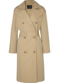 Maje Belted Cotton-canvas Trench Coat