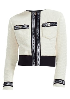 Maje Boppy Tweed Zip Jacket