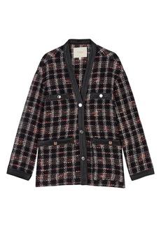 Maje Check Tweed Jacket