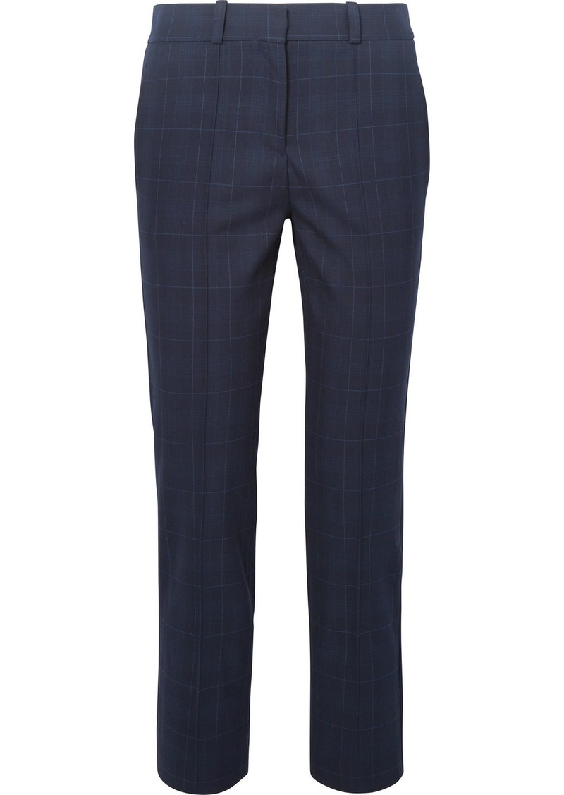 Maje Checked Twill Tapered Pants