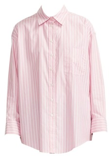 Maje Cherry Cotton Stripe Shirt