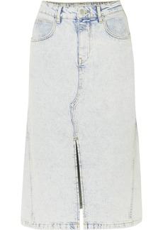 Maje Denim Midi Skirt