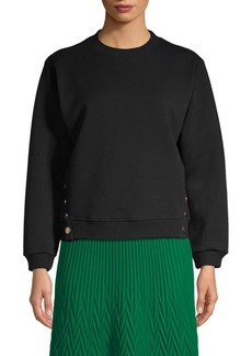 Maje Embroidered Dream Tomorrow Crewneck Sweater