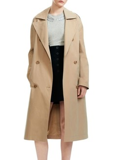 Maje Gathered Shoulder Trench Coat