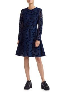Maje Guipure Lace Fit-&-Flare Dress