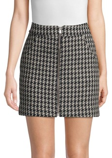 Maje Houndstooth Mini Skirt