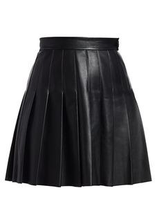 Maje Jabaki Pleated Leather Skirt