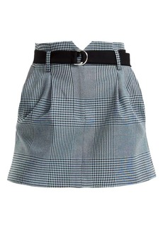 Maje Jadie Prince Of Wales Check Mini A-Line Skirt
