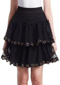 Maje James Tiered Lace Mini Skirt