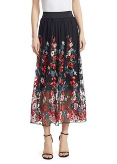 Maje Jamie Bottom Floral Skirt