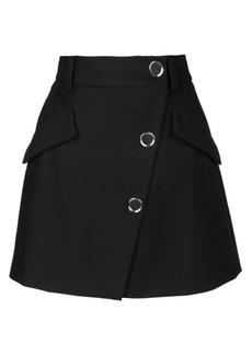 Maje Jana Asymmetric Button A-Line Mini Skirt