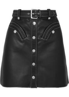 Maje Janaille Belted Leather Mini Skirt