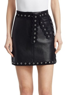 Maje Jarisco Studded Leather Skirt